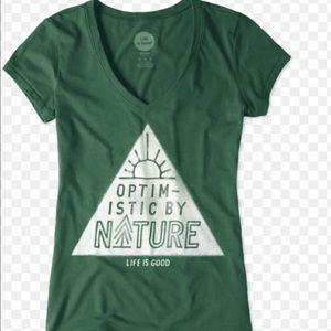EUC Life Is Good V-Neck Shirt